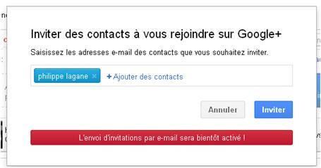 AccessOWeb vous offre une invitation Google +