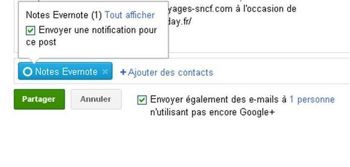 Partager du contenu Google + dans Evernote c'est possible !