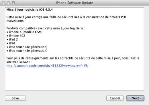 Avec iOS 4.3.4, JailbreakMe est mort