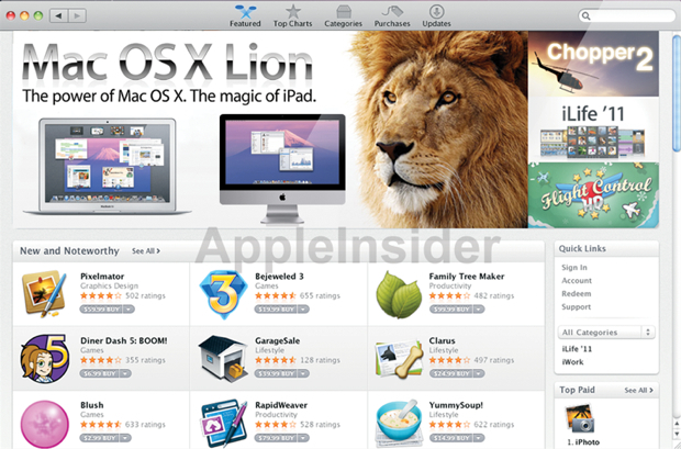 Mac OS X Lion rugira mercredi