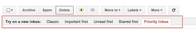 Gmail - La nouvelle barre est en place