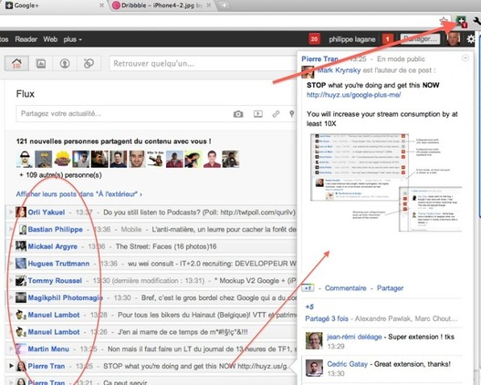G+me - L'extension Google Plus indispensable sur Chrome