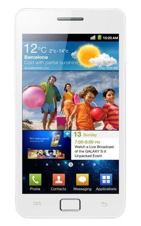Le Samsung Galaxy S II décliné en blanc