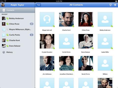 L'application Skype pour iPad est disponible