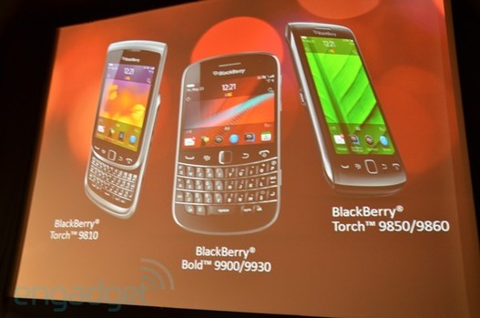 RIM lance officiellement ses Blackberry Torch 9810, 9860 et Bold 9900