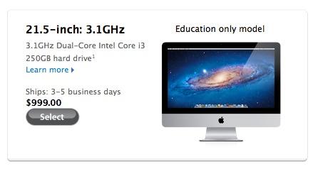 Un iMac low cost pour les étudiants américains