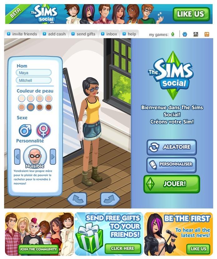 Les Sims Social sont arrivés sur Facebook