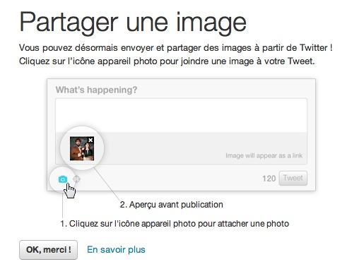 Twitter permet ENFIN de partager une image depuis son site