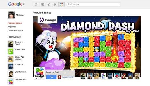 Des jeux font leur arrivée sur Google Plus