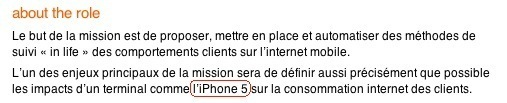 Orange se loupe avec l'iPhone 5
