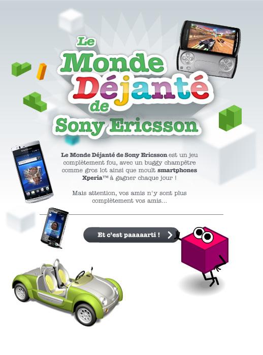 """Sony Ericsson vous invite à jouer à """"Le Monde Déjanté"""" sur Facebook"""