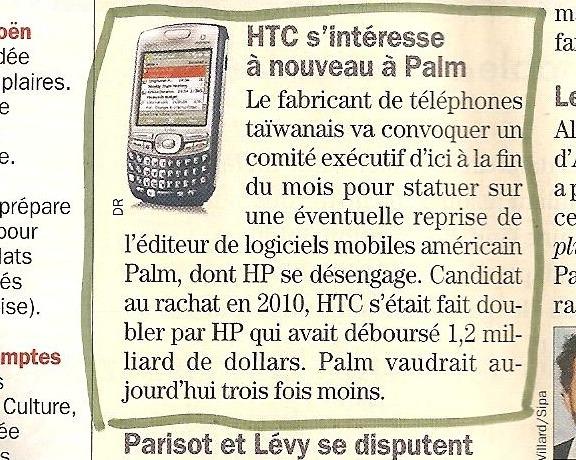 HTC fera t il revivre PALM ?