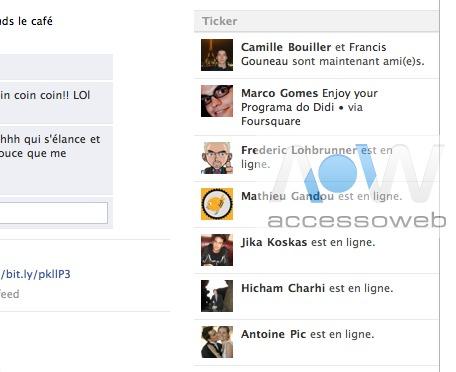 """Facebook Ticker - une fonction """"Twitter"""" dans Facebook"""