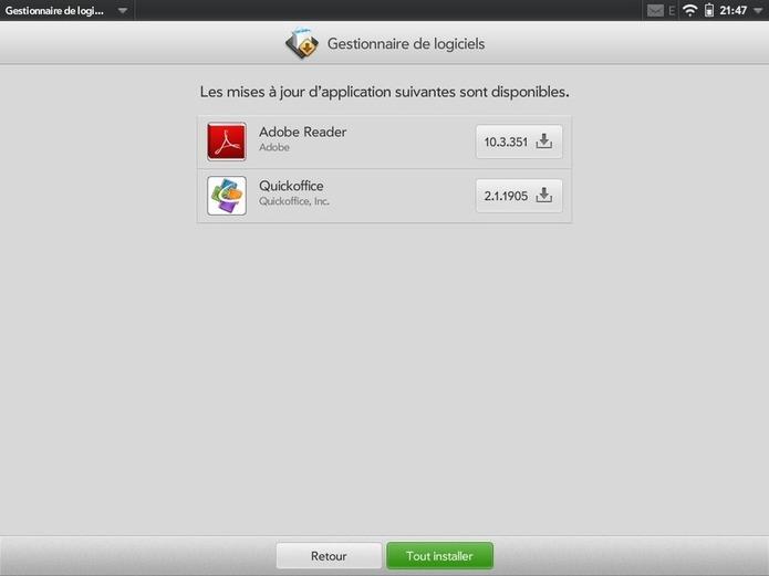 Touchpad - QuickOffice permet maintenant l'édition de documents