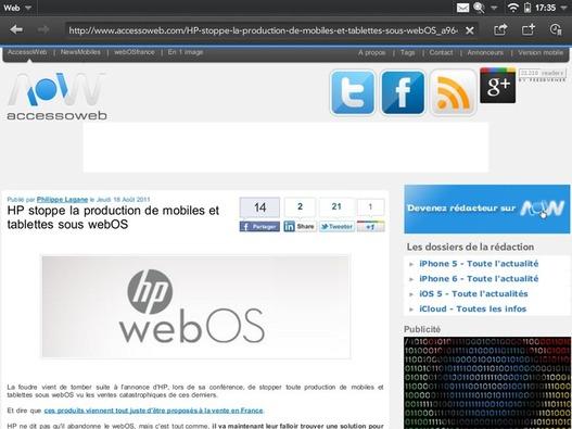 HP et la Touchpad - L'histoire n'est pas encore finie
