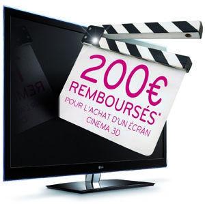 LG propose une TV Cinéma 3D à 349€