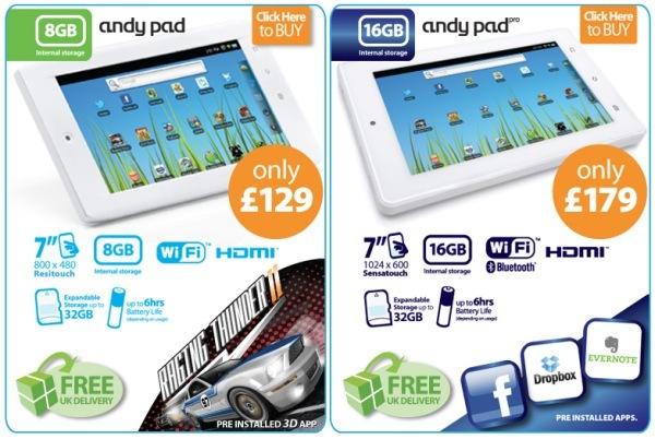 Andy Pad - La tablette idéale pour les petits budgets