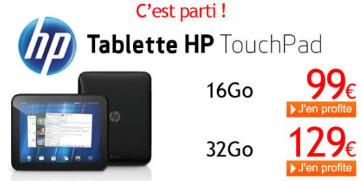 1000 HP Touchpad vendues en 4 minutes !