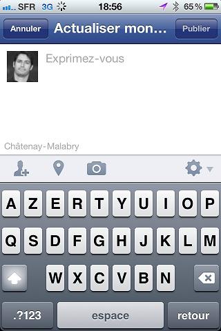 Facebook iPhone passe 3.5