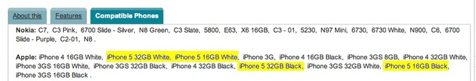L'iPhone 5 sera uniquement disponible en 16Go et 32Go en noir et en blanc