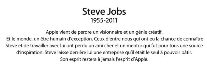 Steve Jobs est mort ce 6 Octobre 2011