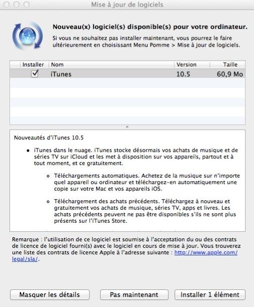 iTunes 10.5 est disponible en téléchargement