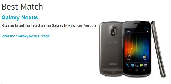 Le Samsung Galaxy Nexus leaké par Verizon (Update)
