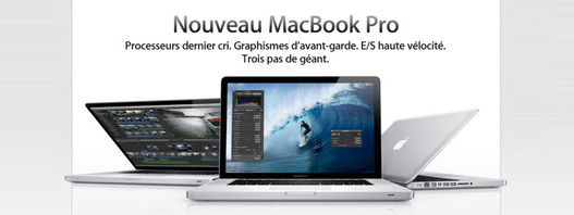 Apple revoit légèrement les MacBook Pro