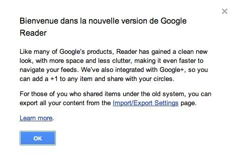Google Reader fait peau neuve