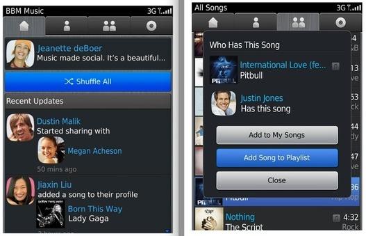 BBM Music pour Blackberry est disponible (pas encore en France)