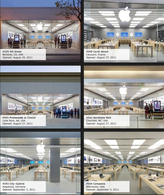 Les 357 Apple Store en image