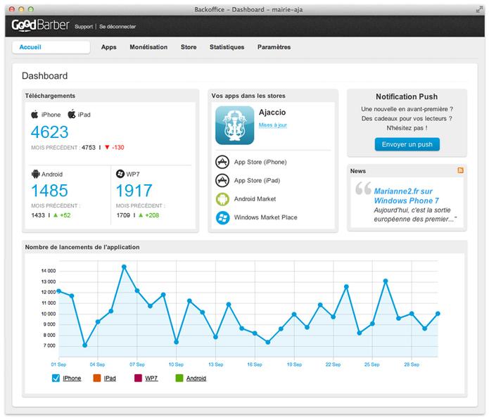 GoodBarber - Créer et gérer vos applications mobiles vous même
