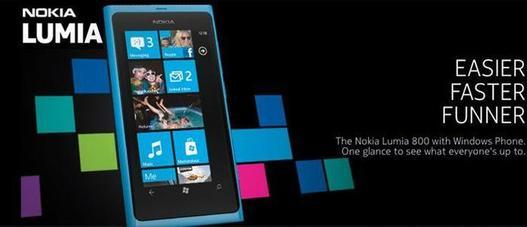Le marketing et les publicités pour le Nokia Lumia 800