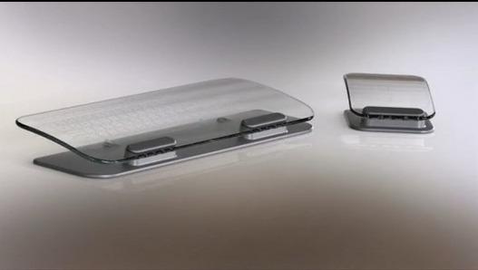 Un clavier et souris Multi Touch en verre - Ouahhh