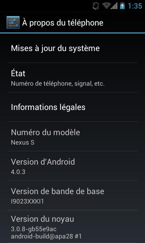 Android 4.0 - Installer Ice Cream Sandwich sur un Nexus S