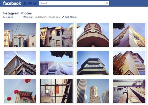 Instagram améliore le partage via facebook