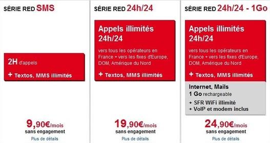 SFR - Les forfaits serie RED sont en ligne