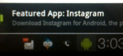 Instagram pour Android - ça arrive