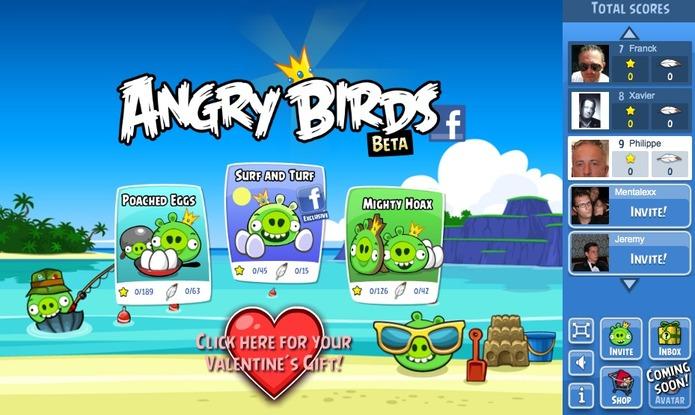 Angry Birds sur Facebook, c'est parti