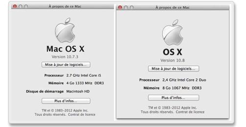 Mac OS X c'est terminé, appelez moi OS X (démo vidéo d'OS X Mountain Lion)