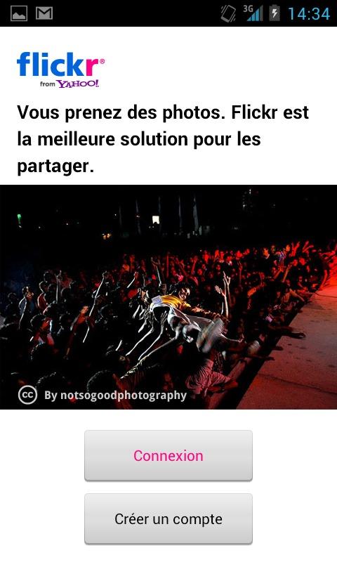 Flickr pour Android maintenant en français