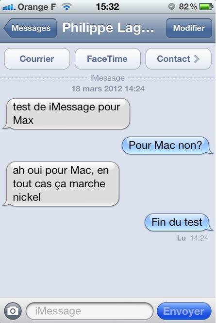 iMessage maintenant sur Mac
