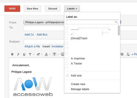 Gmail - Libellé et Suivi d'un mail ... avant son envoi