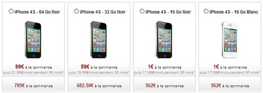 L'iPhone 4S est en vente chez FreeMobile
