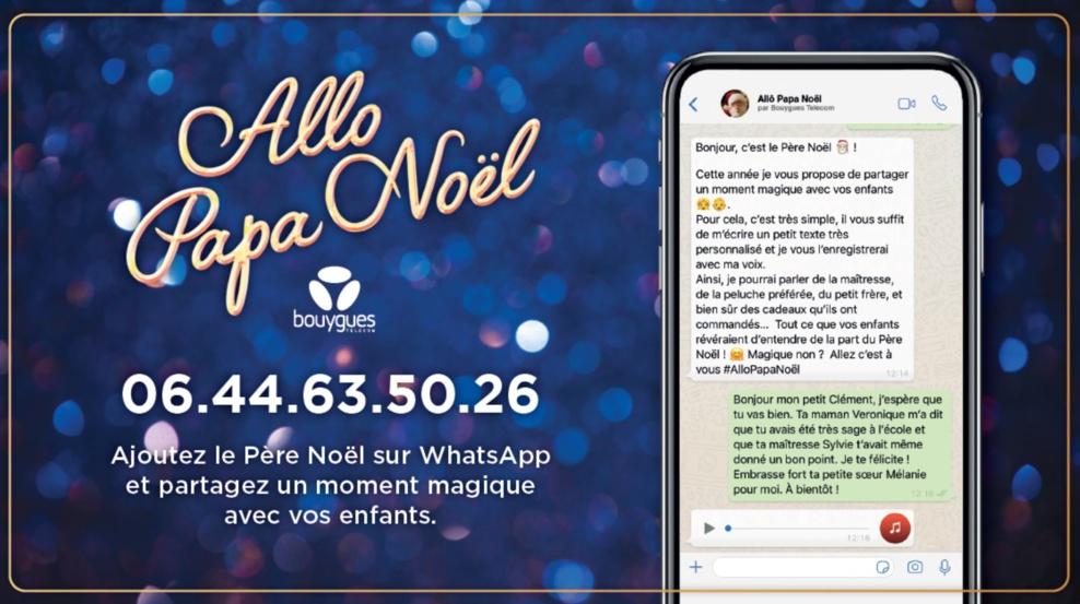 Bouygues Telecom vous donne le numéro du Père Noël #AlloPapaNoël