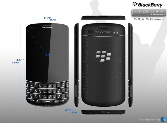 Je veux ce Blackberry Bold ... mais ce n'est qu'un concept