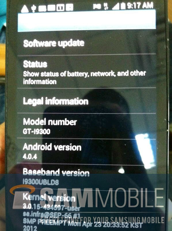 Samsung Galaxy S3 - Une vrai première photo?