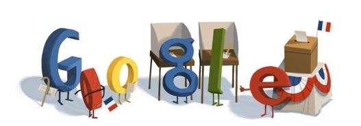2ième tour des élections présidentielles - Un doodle spécial chez Google