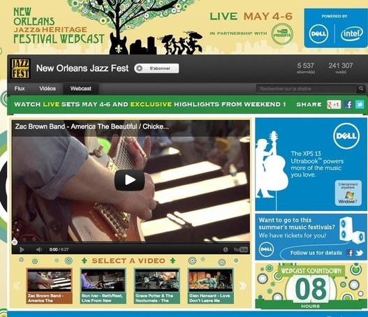 Festival New Orleans Jazz en Live sur Youtube