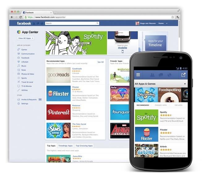 Facebook App Center - La boutique d'applications Facebook